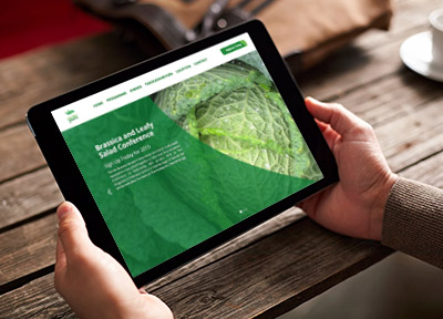 Website design and development, Lincoln and Lincolnshire - Brassica and Leafy Salad Conference website, national website, conference website design, vegetable and agricultural produce website and mobile application, mobile and responsive.